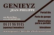 Jean-Philippe GENIEYZ : artisan électricien Pays de Gex