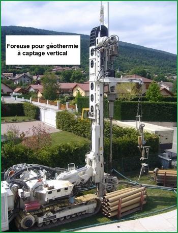 Foreuse pour géothermie