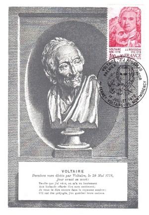 Enveloppe 1er Jour Voltaire
