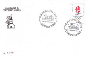 Enveloppe 1er Jour Voltaire Prevessin